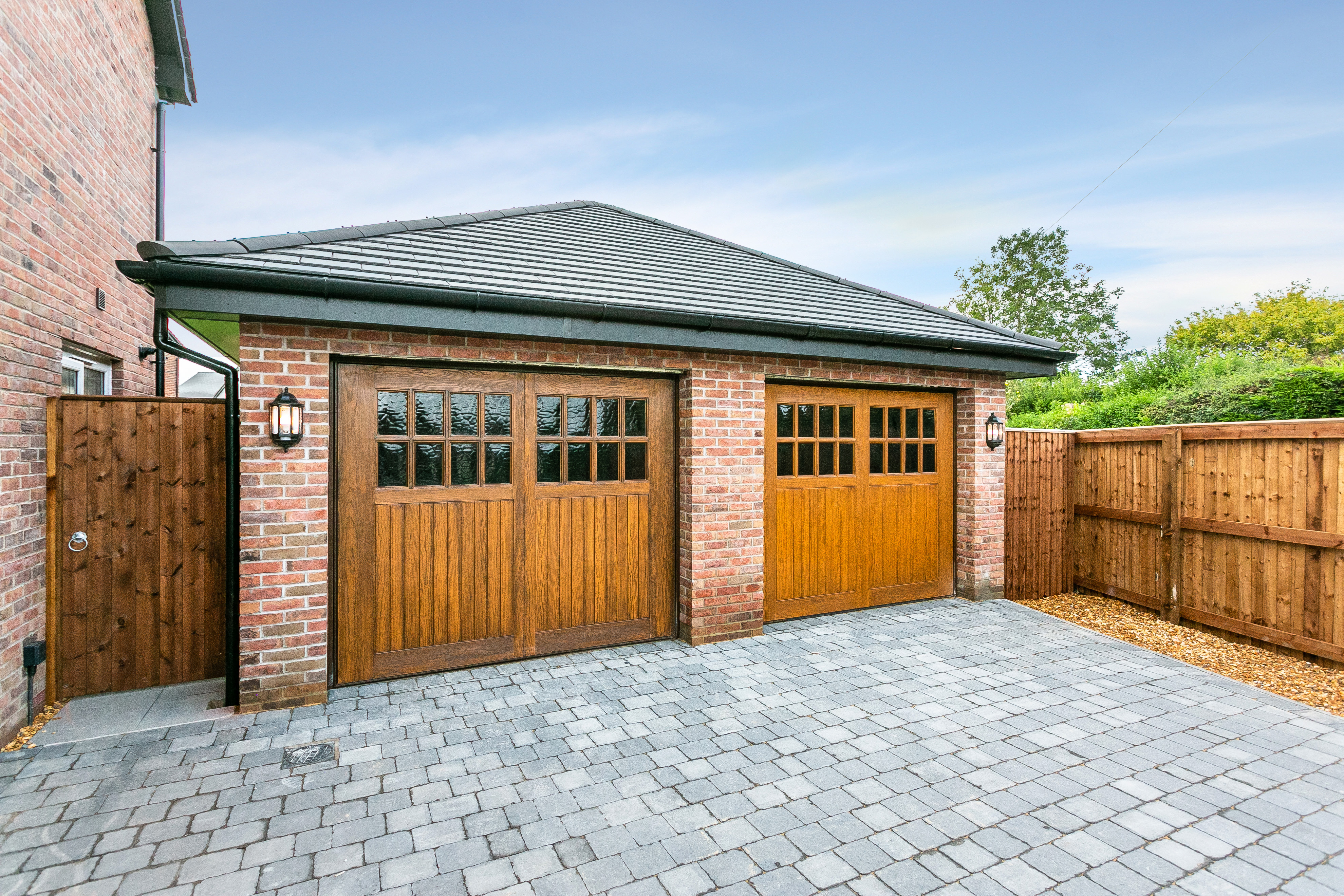 Detached Double Garage with Electric Remote Control Doors